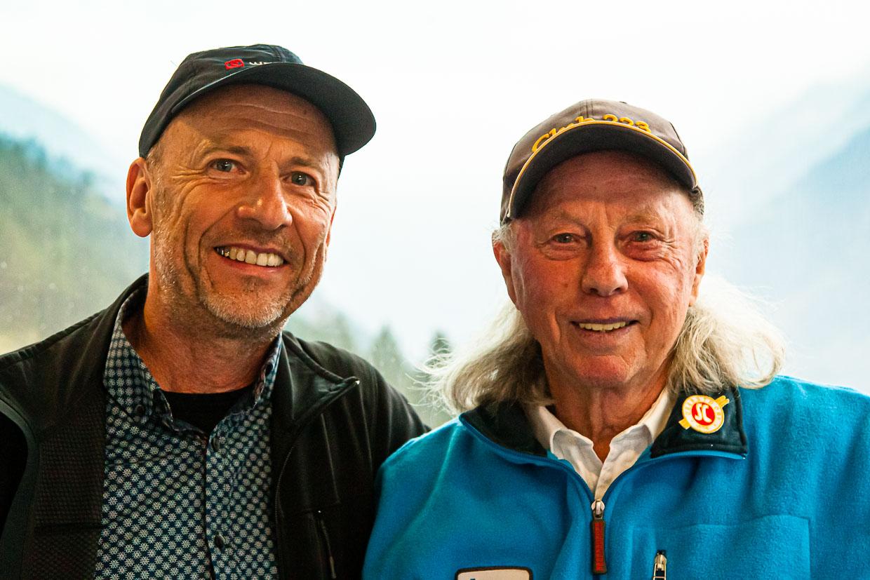 Four Hills Tournament Winner Max Bolkhart (r.) with Georg Berg