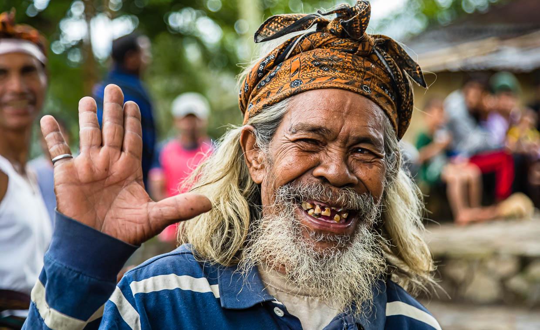 Humorous exchange between cultures, Sunda Islands, Indonesia