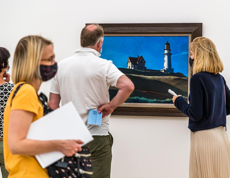Edward Hopper Exhibition in the Foundation Beyerler in Riehen, Switzerland