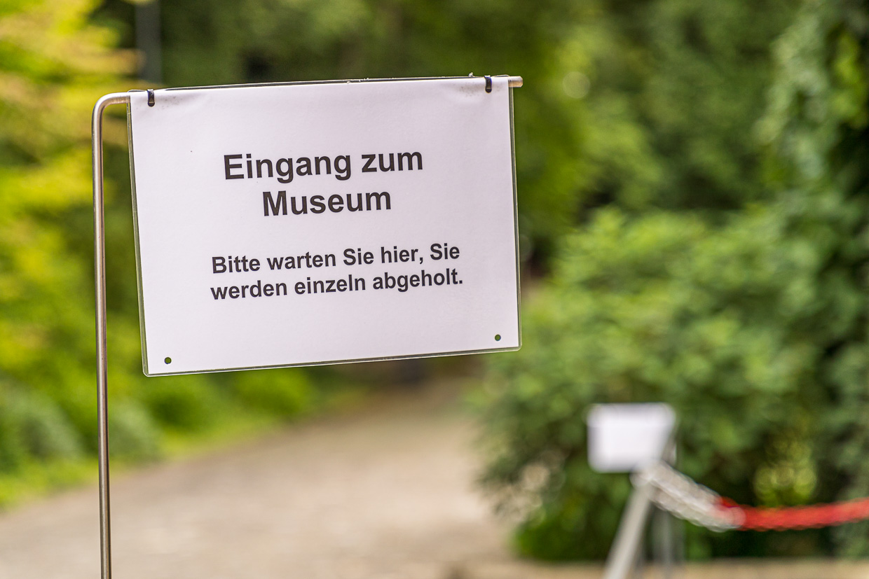 Pandemie regulations at Reinhart Collection formed by Oskar Reinhart in Winterthur, Switzerland